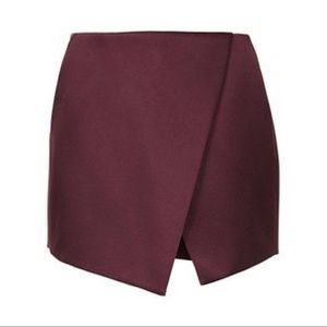 Topshop Skirts - Bordeaux Topshop Skirt with Shorts